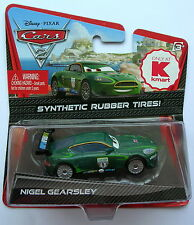 Disney Pixar Cars  NIGEL GEARSLEY KMART RUBBER TIRES  Very Rare UK !!