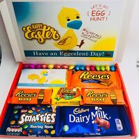 Easter Chocolates Gift Box Hamper Reeses Smarties Dairy Milk Galaxy New