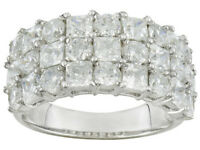 Size 6- Bella Luce 6.04ctw Round and Square Sterling Silver Ring