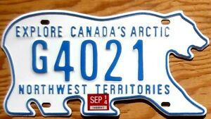 2014 Northwest Territories NWT License Plate Number Tag - Bear