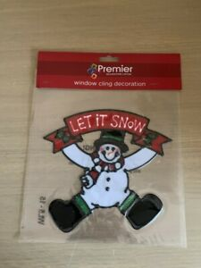 Snowman Window Cling Christmas Decoration
