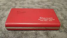 823az Starrett Tubular Inside Micrometer Set Case 15 8 Range 001 5 Rods