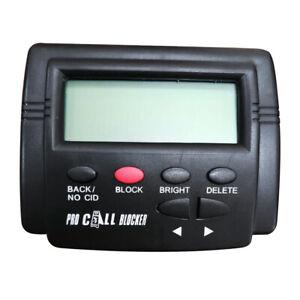 Call Blocker for Fixed Landline Phones w/ Caller ID Display Dual Signal FSK/DTMF
