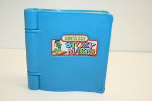 VINTAGE See 'N Say Story Maker Mattel 1991 Silly Sentences Book Works! Blue Toy