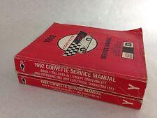1992 Corvette  Shop Service Manuels- Original Book 1 &2 -Good Used