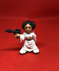 "Genuine Hasbro 2004 LFL Small 1 1/2"" (inch) Princess Leia PVC Figurine Only HTF"
