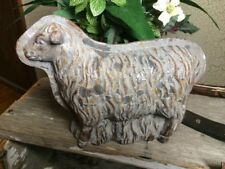 Antique Tin Style SHEEP Rustic Distressed Resin Chocolate Mold Farmhouse Decor