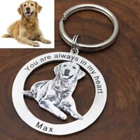 Personalised Dog Keychain Custom Keyring Animal Photo Keychain Pet Lover Gift