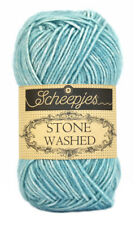 36 colours ~~ Soft Yarn - Scheepjes Stone Washed , Knitting or Crochet, 4ply 50g