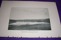 1897 Antique Print Gravel Lake Lackawanna County Pennsylvania PA