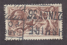 Great Britain Sc 222 used 1934 2sh6p brown Seahorses F-Vf