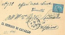ITALIA REGNO: 1880 ROVIGO - da GAVELLO  a  CRESPINO