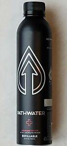 PATHWATER 25 oz Alkaline Bottled Water, Eco-Friendly Reusable Aluminum Bottles