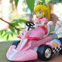 6pcs Super Mario Kart Luigi PVC 4 Wheels Pull Back Racers Mini Auto Kids Toys AU
