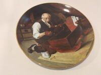 """Norman Rockwell """"Grandpa's Gift"""" Collector Plate First Issue ( 1987 #11997c."""