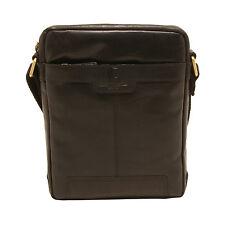 Underwood & Tanner - Black Leather Jake Shoreditch Messenger/Shoulder Bag