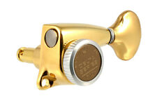 NEW Gotoh Delta Series 6 In Line LOCKING TUNERS 18:1 Gear Ratio Gold TK-7277-002