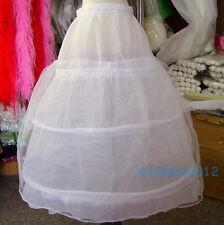 3 Hoop 1 Tulle Petticoat Bridal Flower Girl Crinoline Petticoat/Slips/Underskirt