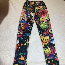 Cartoon Bam Leggings Size XL 32L  Muticolor High Waist Knit