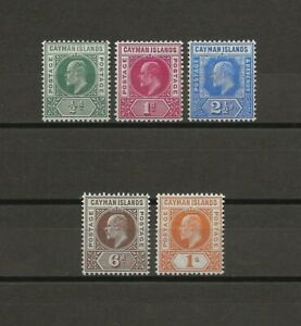 CAYMAN ISLANDS 1905 SG 8/12 MINT Cat £85