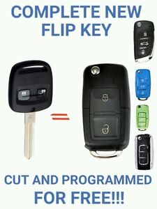 Complete New Flip Key For Subaru WRX Impreza & Liberty CUT & PROGRAMED FOR FREE
