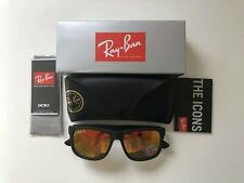72726eb993a RAY-BAN JUSTIN RB4165 54MM RUBBERIZED FRAME POLARIZED RED MIRROR LENS  SUNGLASSES