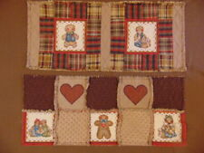Country Gingerbread Man Rag Quilt or Patchwork Table Runners Tan Brown Red