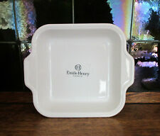 "NWT Emile Henry Baking Dish Rectangular White 10.6"" x 9"" x 2.25"" Made in France"