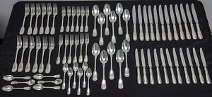 Christofle Chinon Silverplate Flatware Set – Dinner Service for 11+  70 Pieces