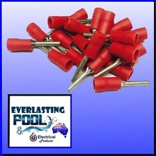 20 Pack Red Pre-Insulated 12mm Pin Connector Wiring Wire Speaker Crimp Terminal