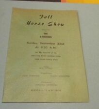 1957 Vaqueros Fall Horse Show Program Rolling Road Saddle Club Catonsville MD