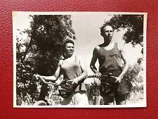 VINTAGE SOVIET PHOTO 1950's USSR URSS SPORT CYCLISTS. Cyclistes Soviétiques.