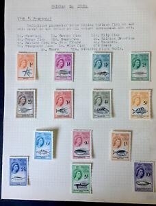 TRISTAN DA CUNHA SG28/41 1960 MARINE LIFE SET Very Lightly Mounted Mint.
