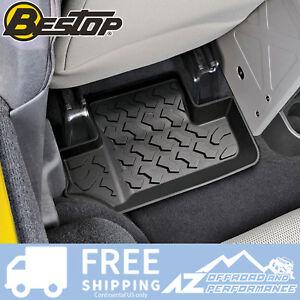 Bestop Rear Floor Liner Set For '07-'10 Jeep Wrangler JK 2 Door 51502-01 Black