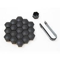 NUEVO 17mm Coche Negro Perno De La tuerca de la rueda Cubre Funda Universal