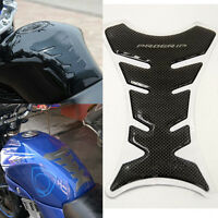 3D Carbon Fiber Motorcycle Oil Gas Fuel Tank Protector Gel Pad Sticker Decal New