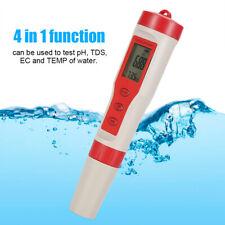 4 in 1 Digital LCD pH  EC TEMP Water Quality Tester Monitor Meter Test Pen