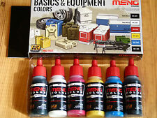 AK Interactive Meng Basics & Equipment Colori Acrilici Set per Spazzola/Aerografo