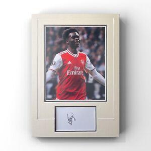 Bukayo Saka - Arsenal Midfielder Signed Display