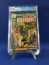 Marvel Feature #1 CGC 7.5 OW Pages 1st App. The Defenders New Case! Beautiful!
