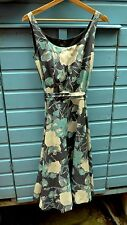Laura Ashley silk mix sleeveless floral print skater dress size 8 BNWT