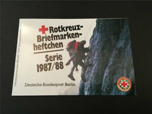 GERMANY BOOKLET 1987 RED CROSS CROIX ROUGE ROTES KREUZ MOUNTAIN GUARD h4947