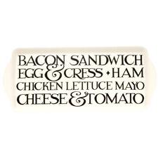 Emma Bridgewater Black Toast Melamine Sandwich Tray - BT0660