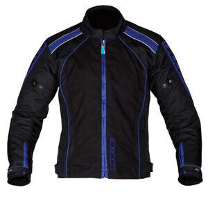 Spada Plaza Textile Waterproof Motorcycle Textile Jacket - Black Yamaha Blue