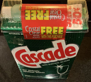 Cascade Crystal Clear Rinse Agent + Cascade Dish Detergent Discontinue 1992 New