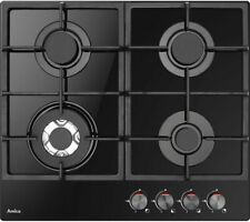 AMICA AGVH6250BL Built-in Gas Hob 4 Zones Dial Controls Black - Currys