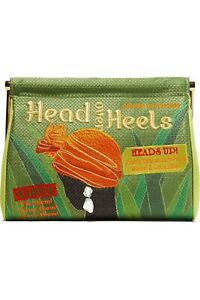 CHARLOTTE OLYMPIA Head Over Heels Maggie Embellish Embroidered Clutch NWT $1,295