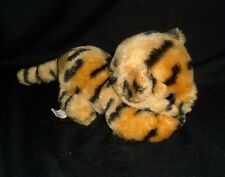 "6"" VINTAGE 1981 R DAKIN ORANGE BLACK STRIPED BABY TIGER STUFFED ANIMAL PLUSH TOY"