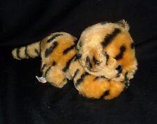 """6"""" VINTAGE 1981 R DAKIN ORANGE BLACK STRIPED BABY TIGER STUFFED ANIMAL PLUSH TOY"""