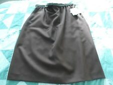NEW Woman's size 16 Chocolate Brown Elastic Waist A-Line Skirt with Belt